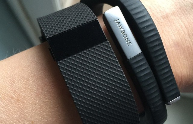 jawbone and fitbit on wrist