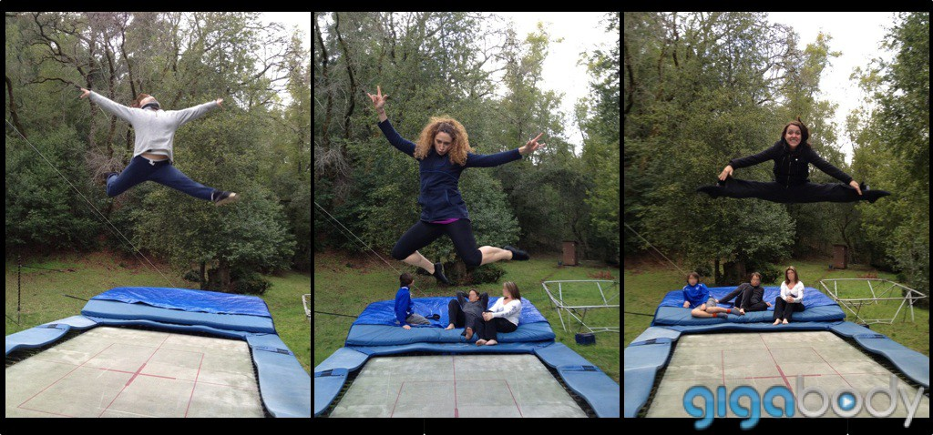 Jumping For Joy on the Trampoline