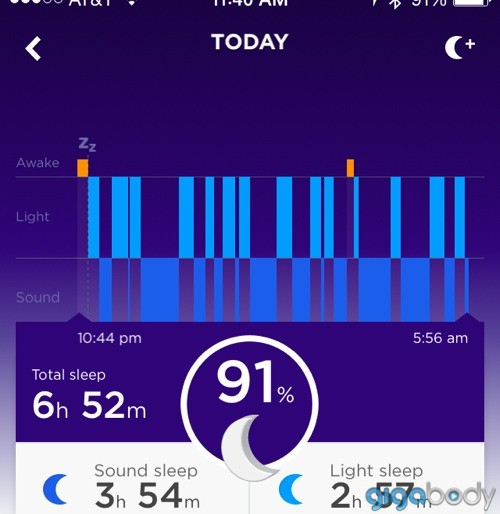 Jawbone App Sleep Chart