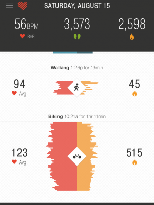 bike vs walk activity detection