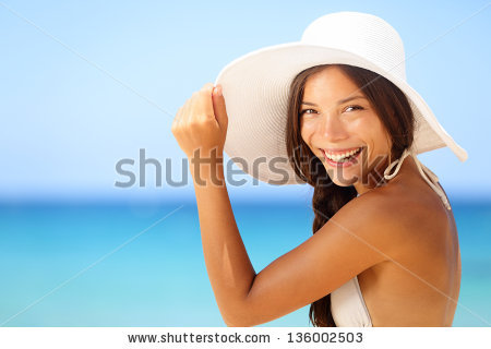 smile wearing hat